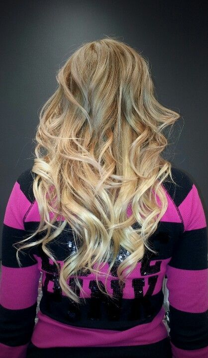 Golden to Platinum Blond Ombre with new Tape in Extensions!