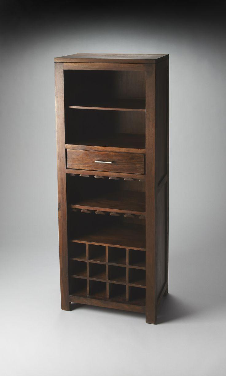 Hewett Modern Bar Cabinet Dark Brown