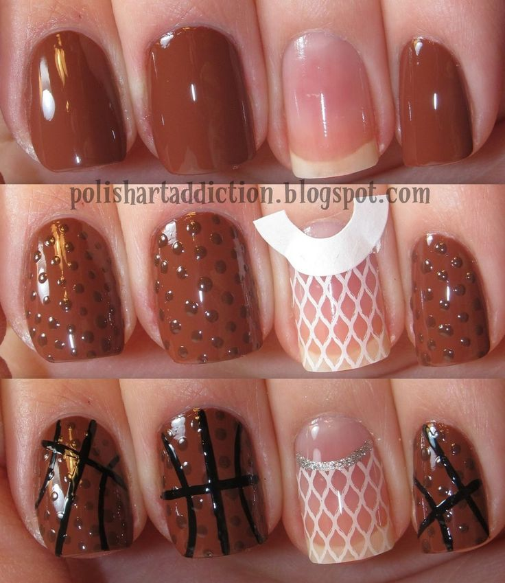Basketball nails. @Lennelle Coleman We can do this to your nails for basketball season. lol