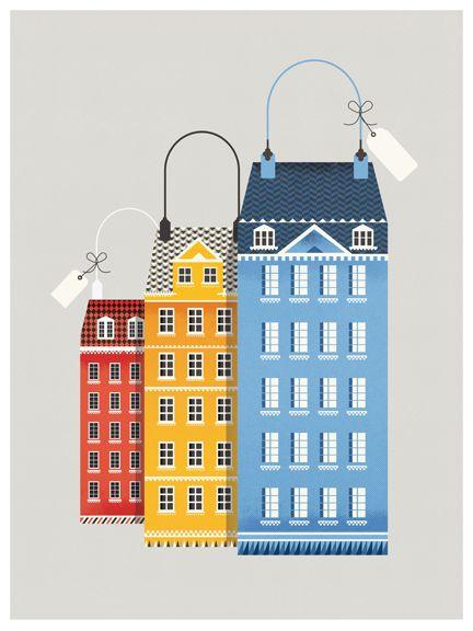 by Nathalie Lees (for Copenhagen) for shop magazine...illustration