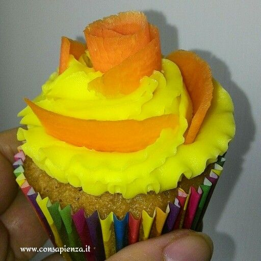 Carrot vegan cupcake
