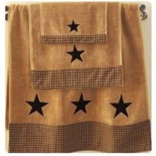 Our Vintage Star Black Bath Towel Is A Great Addition To Any Country Or Primitive Home With Other Vintage Star Coordinates Terry Towel Has A Woven Black