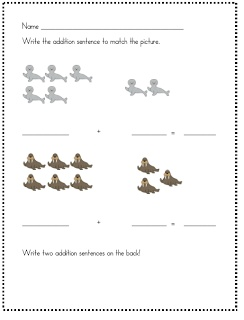 addition worksheets arctic animals and worksheets on pinterest. Black Bedroom Furniture Sets. Home Design Ideas