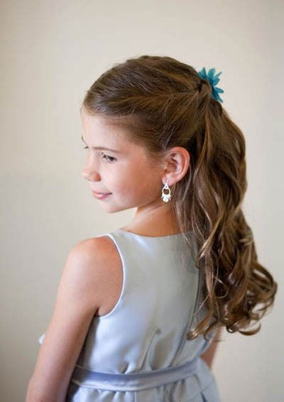 Pretty Hairstyles For Kids. Really cut for school pictures and weddings