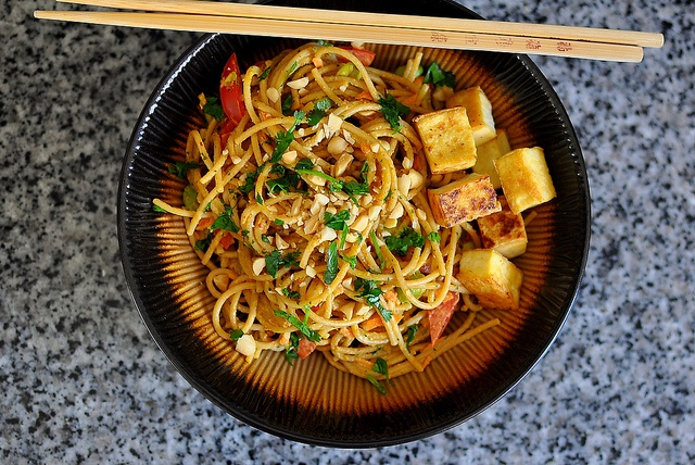 Vegetarian Red Curry Peanut Noodles by cathydanh, via Flickr