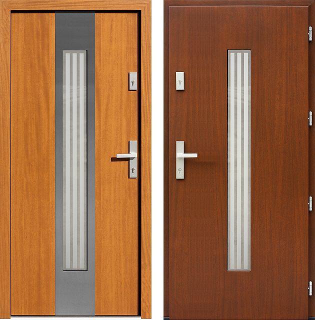 Drzwi wejściowe z kolekcji INOX model 454,5-454,15+ds3 produkcji AFB-Kraków