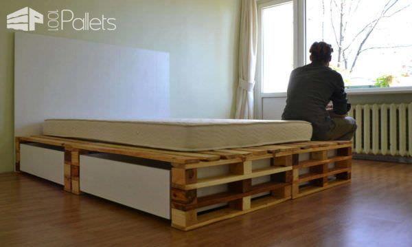 Simple Pallets Bed DIY Pallet Bedroom - Pallet Bed Frames & Pallet Headboards