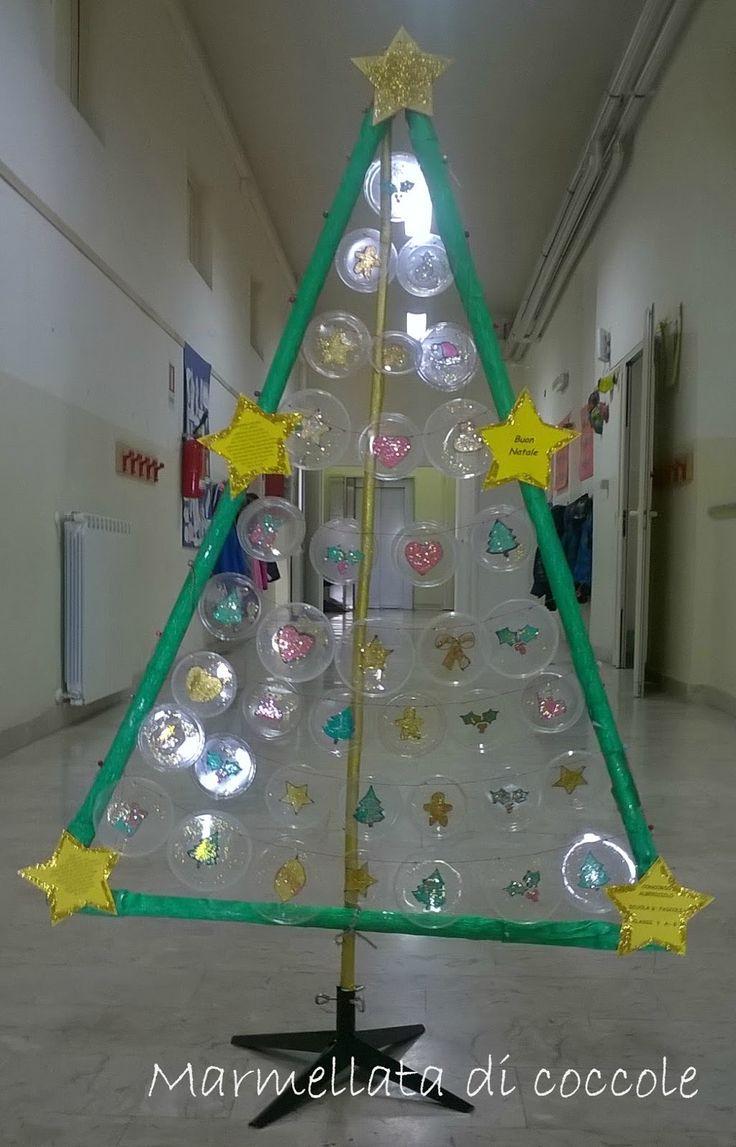 Quest'anno con la scuola abbiamo partecipato ad un concorso sul riciclo. Dovevamo costruire un albero di Natale tutto con materiale riciclato, così abbiamo cominciato… Il telaio dell&#8…