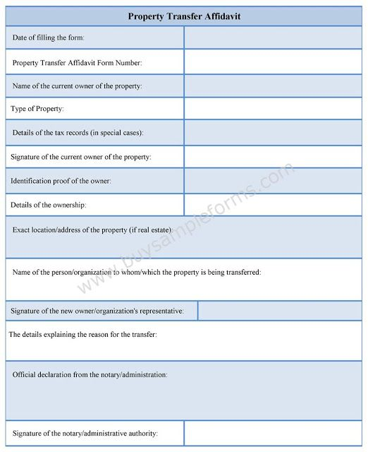 Sample Personal Affidavit Form