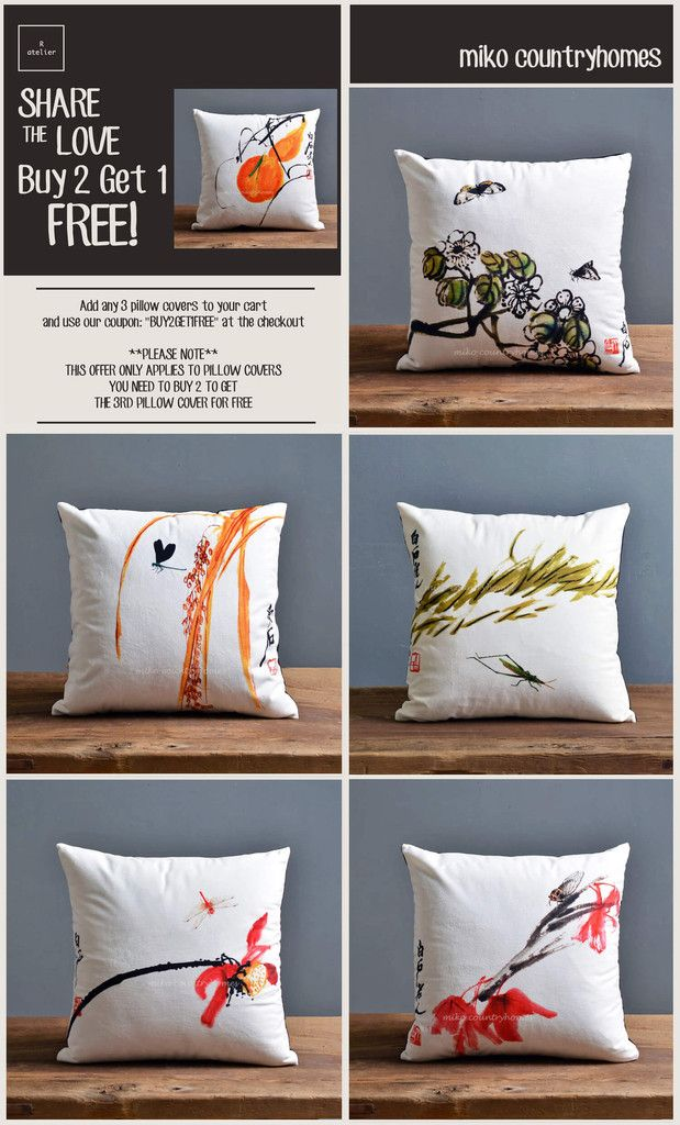 $18 | Chinoiserie Nature Inspired | Decorative Pillow Cover #HomeDecor #PillowCover #ThrowPillows #DecorTrends #Decorate #BUY2GET1FREE #SALE