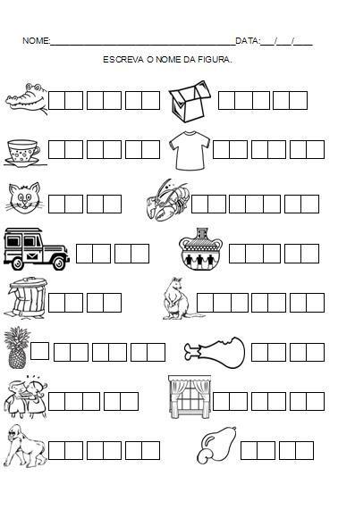 Resultado de imagem para atividades para alunos nivel silabico alfabetico com recortes
