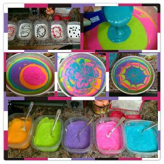 MoonRuffle: Tie-Dye Birthday Cake
