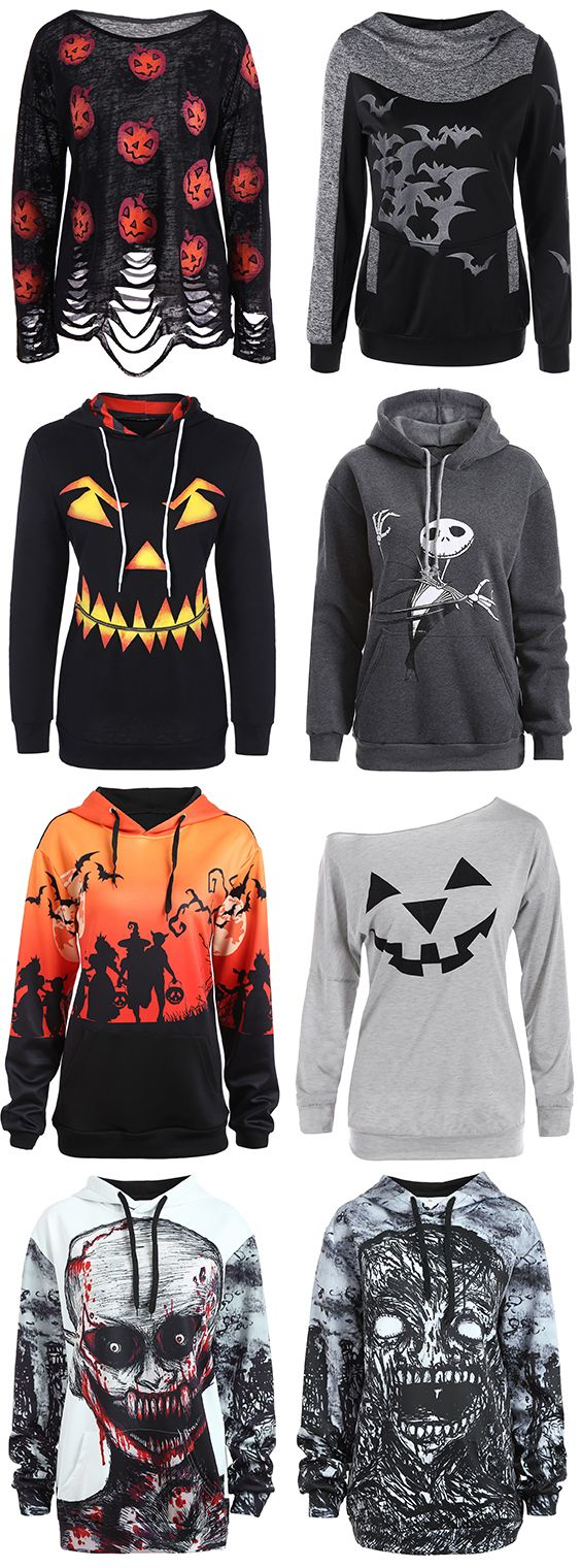 halloween hoodies for women this winter