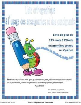 Vocabulaire 1re année français 250 mots illustrés