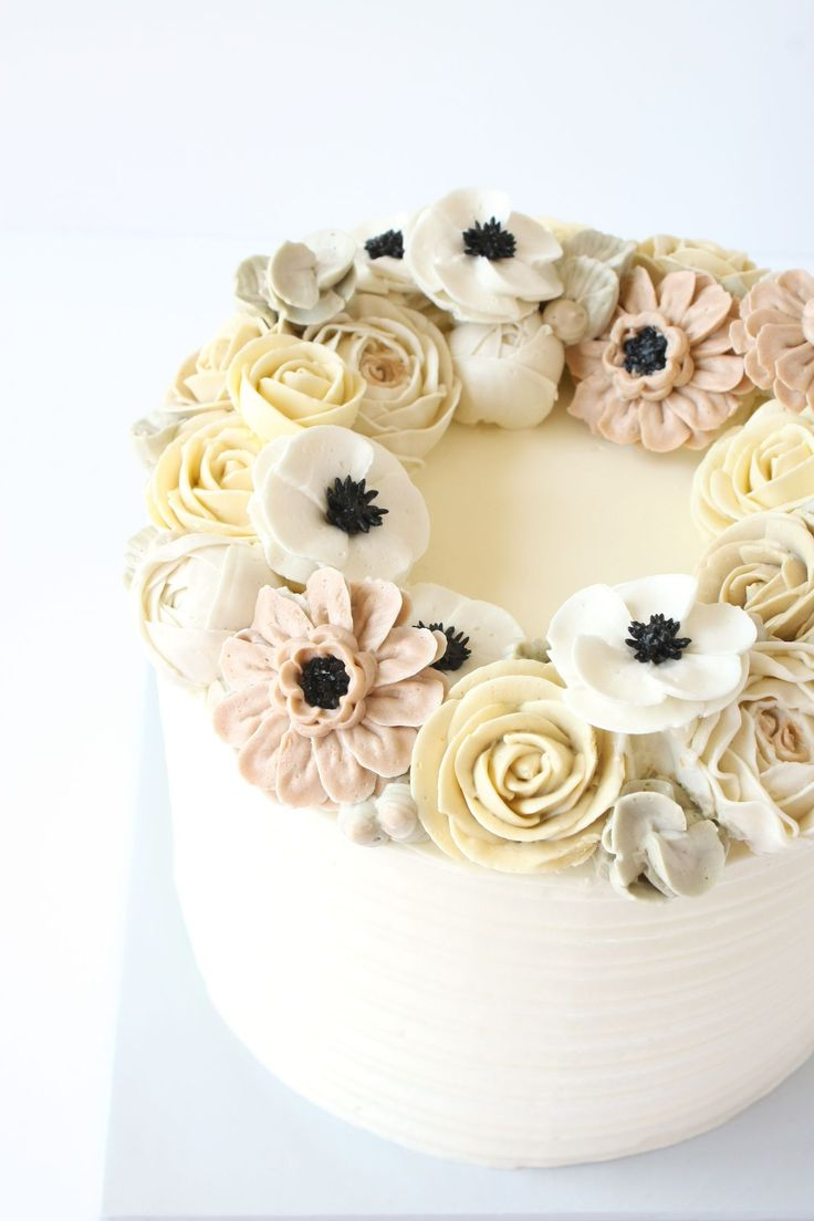 Cake decorating ideas pinterest - Cake Trends Blooming Buttercream