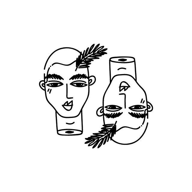 2  #proyecto89 #illustration #digitalart #digitalillustration #art #twosides #self #draw #drawings #dailydrawings #dailyart #heads #floating #mywork #blackandwhite #outlines #smalltattoo #flashtattoo #flash #ink #tattoo #tattoosketch