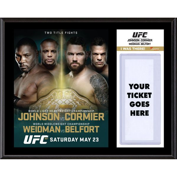 Fanatics Authentic UFC 187 Anthony Johnson vs. Daniel Cormier Dueling ''I Was There'' 12'' x 15'' Sublimated Plaque - $39.99