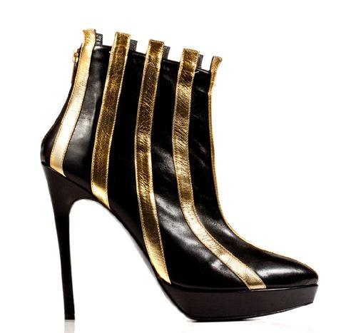 STATHIS SAMANTAS / Calfskin booties Heel: 12.5cm with a 2cm platform
