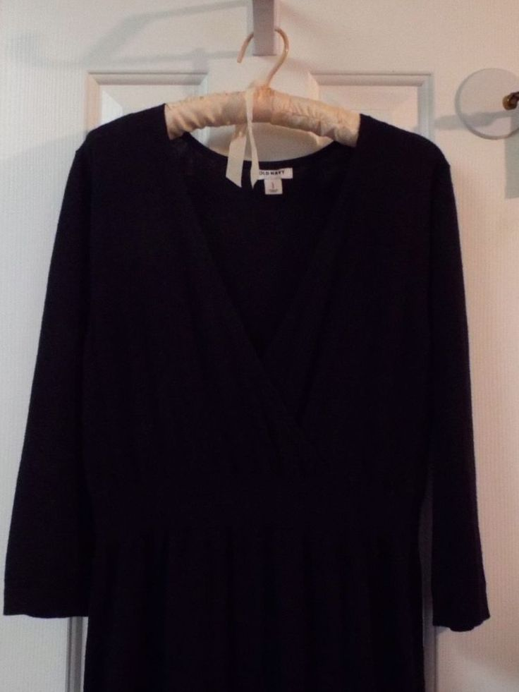 Women's Black Maxi Dress Size Large Fall Fashion by Old Navy #OldNavy #SweaterDress #Casual
