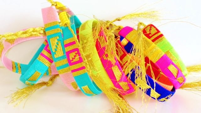 Friendship bracelet beach boho bohemian ethnic by Kokomoi.nl