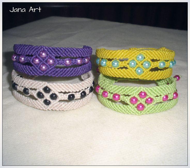 Macramè bracelets with beads..  https://facebook.com/artelien
