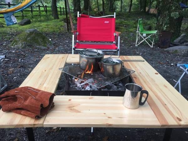 焚き火 囲炉裏 テーブル スノーピーク ユニフレーム 自作 改良_画像1