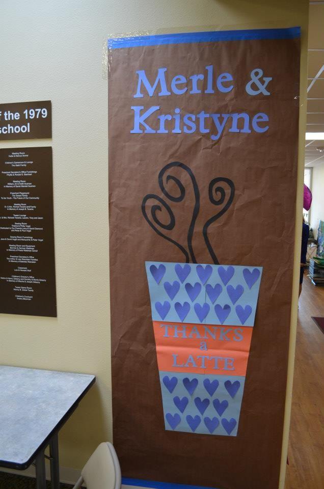 Classroom Decor Gifts : Teacher appreciation door decorations thanks a latte