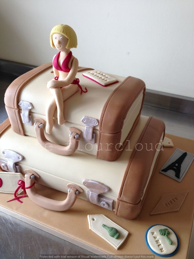 Suitcases birthday cake for a well travelled lady.