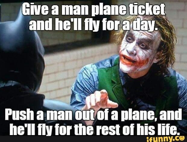 Push A Manout A Plane And He Ll Ilv Tor Tll E Rest Oi His Iile Ifunny Funny Work Jokes Crazy Funny Memes Work Jokes