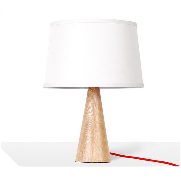 Simple and decor wood table lamp with 2 sizes: 280*280*385, 350*350*630