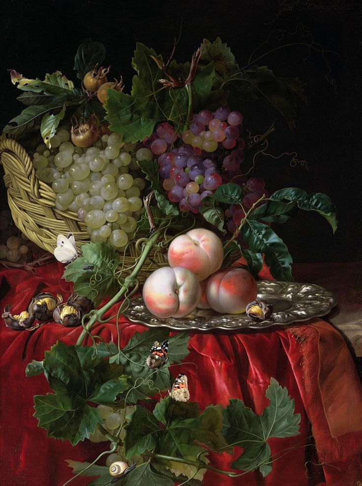 Still Life with Grapes and Peaches.