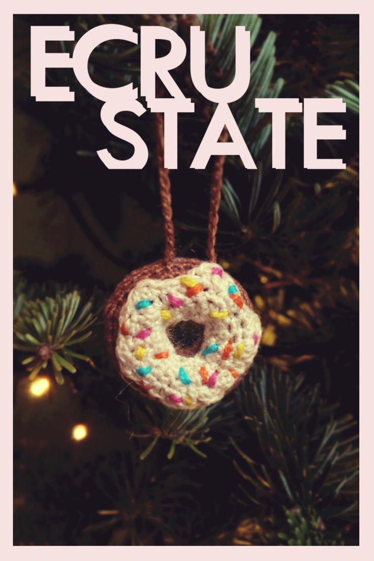 #crochet #donut #amigurumi #decoration #ornament #cute #fun #sprinkles #ECRUSTATE