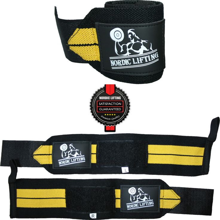 1P Yellow Wrist Wraps