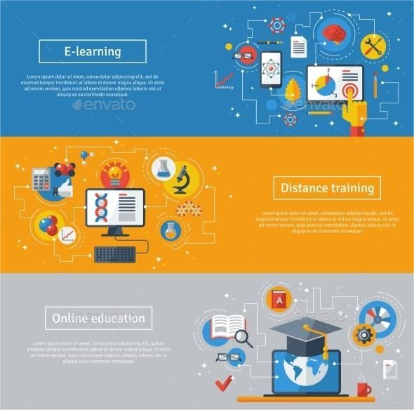 Education Banners Education Banner Online Learning Elearning