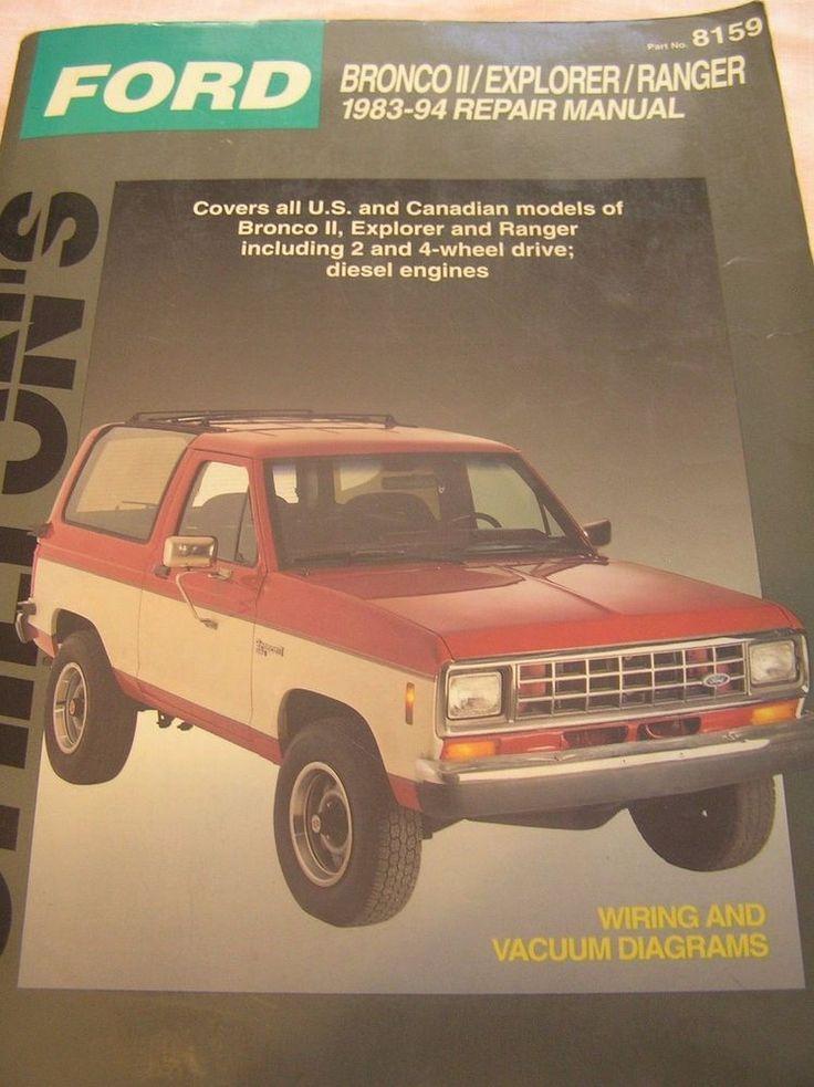 Chilton's Manual, 1983-1994 Ford Bronco II/Explorer/Ranger 1994 Paperback