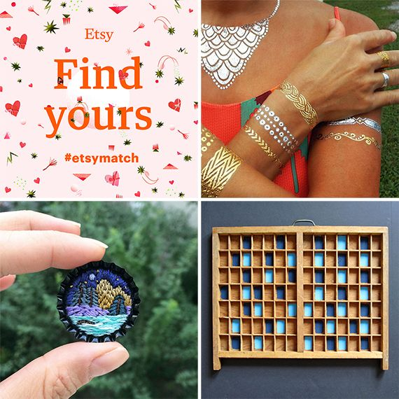 Find your Match on Etsy!  Valentine's day promotions and info.