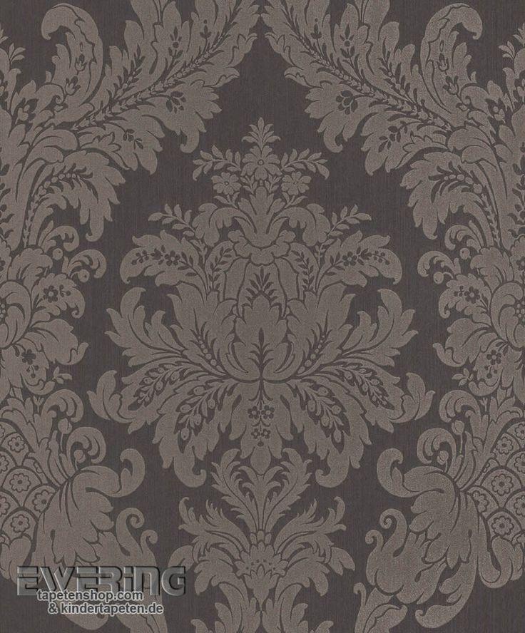 Rasch Textil Cassata 23 077246 Ornament Dunkel Grau Textiltapete