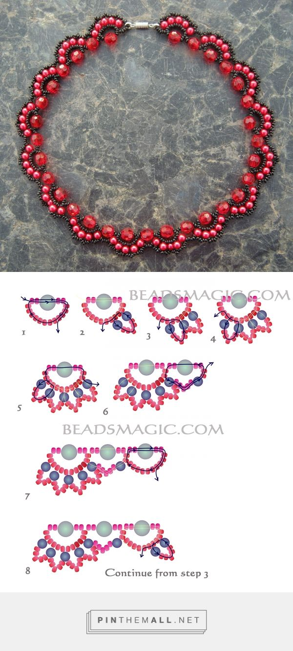 Beads instructions - Free Pattern For Beaded Necklace Rosana Beads Magic Seed Bead Tutorials