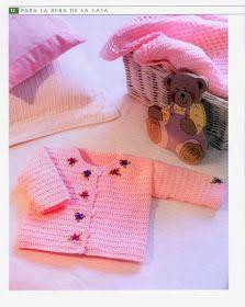 Chaqueta Infantil Bebe Instrucciones - Patrones Crochet