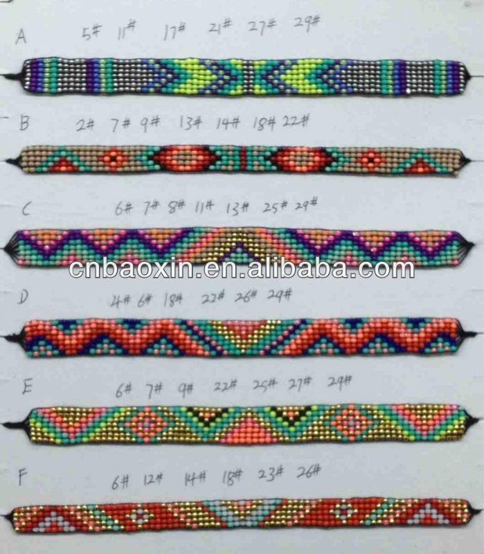 Hipanema bracelets patterns