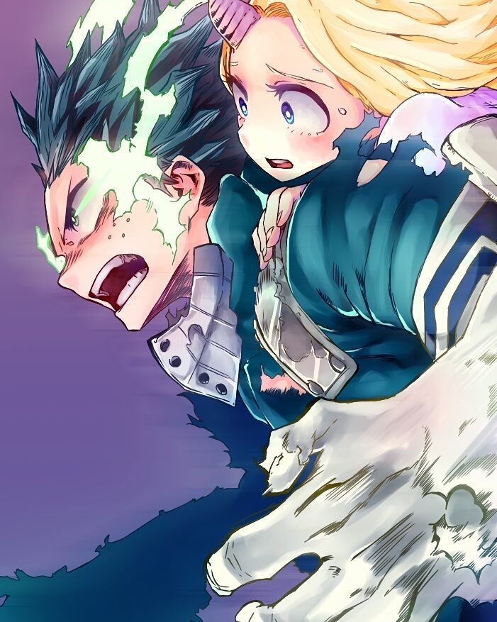 Boku no hero Academia || Midoriya & ( aww shit i forgot her name sorrie (。ŏ_ŏ) But i ship them