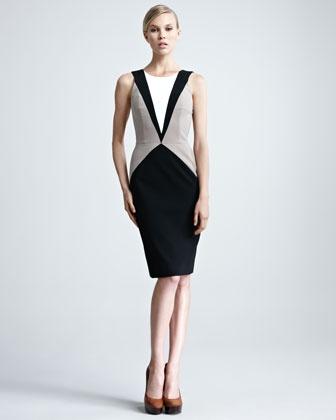 Contour Inset Dress by Paule Ka at Neiman Marcus.