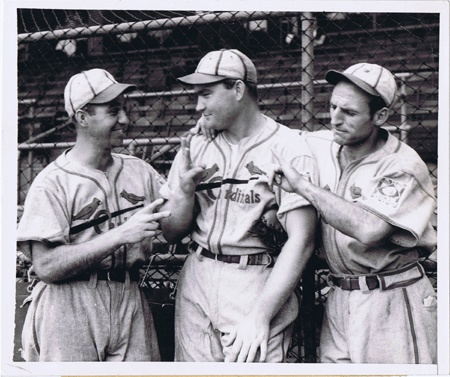 Enos Slaughter Pepper Martin Johny Mize Original 1939 Cardinals 8x10 Wire Photo   eBay