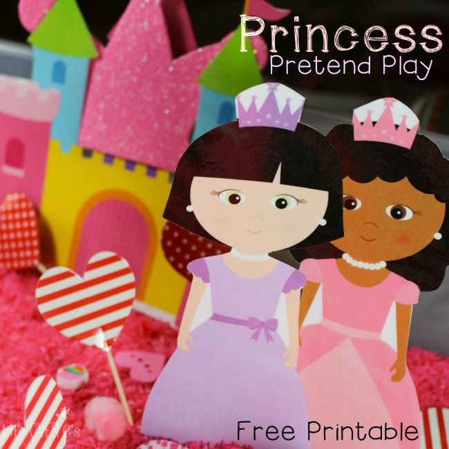 This free princess printable set is great for play dough, sensory bins or even on its own! Check out this blog for lots of free printables!