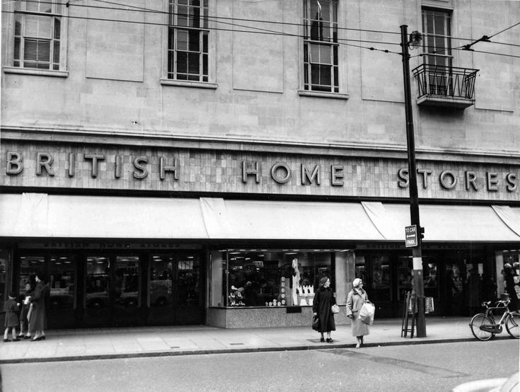 British Homes Stores, Queen Street, Cardiff, 1957