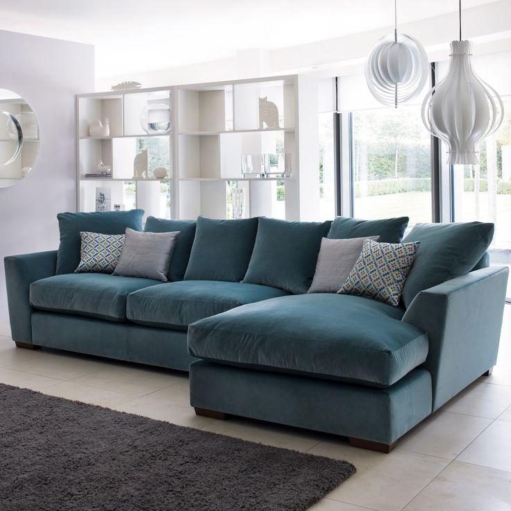 Heal's | Modular Cloud Corner Sofa in Velvet - Modular Sofas - Sofas - Furniture