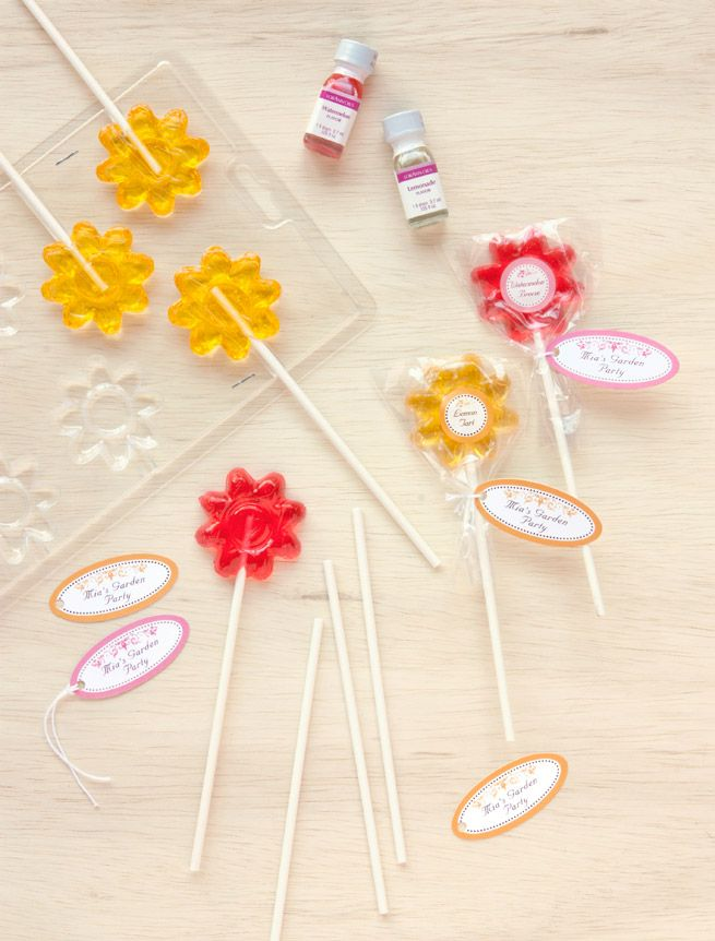 DIY Lollipop Favors from the Evermine blog #homemade #candy #party