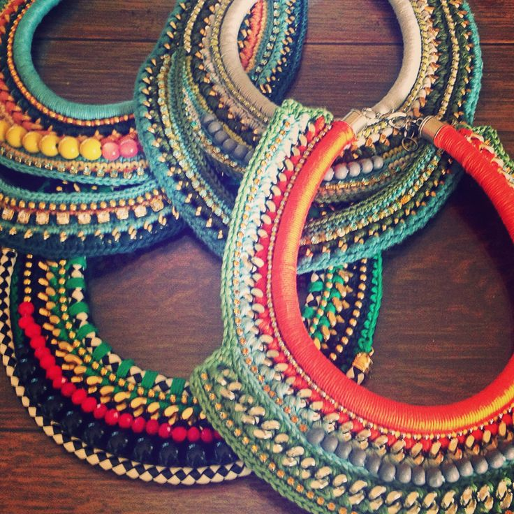 #diy #necklace #crochet #jewelry #collar #bling #fashion #necklace
