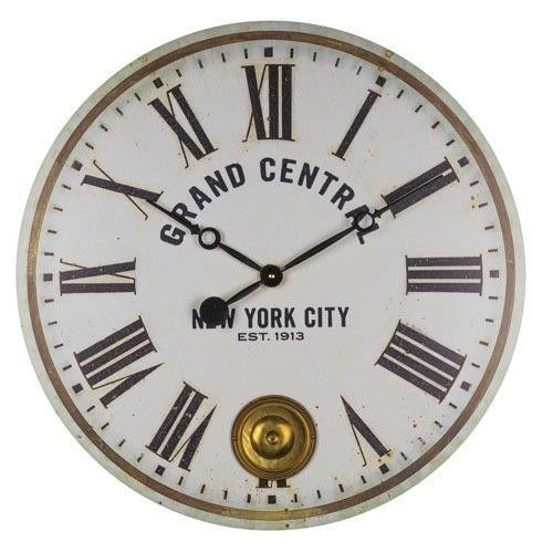 grand central wall clock with a functional internal pendulum httpmore pins