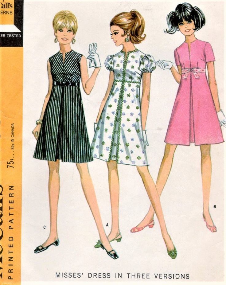 670 best 60\'s Dress Patterns 8 images on Pinterest | Vintage sewing ...